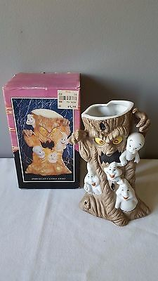 Rare 1986 Casper The Friendly Ghost Porcelain Tea Lite Candle Holder w/Box