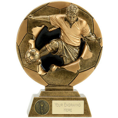 Football Soccer Trophy 4 Sizes Available Engraved Free 2D Design Player Trophies