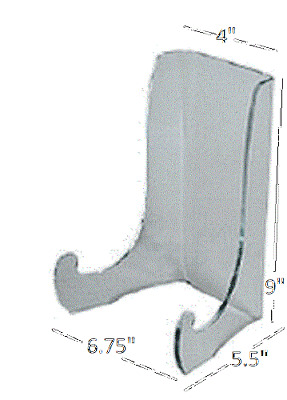 """Peggy Karr Acrylic Plate Display Stand, 9"""" High for large plates & Platters"""