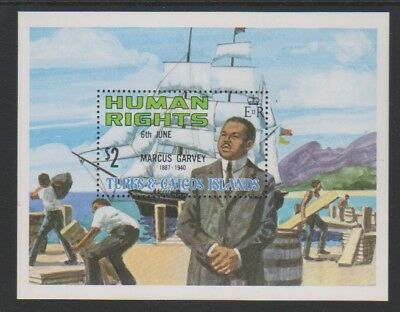 Turks & Caicos - 1980, Human Rights (Marcus Garvey) sheet - MNH - SG MS629