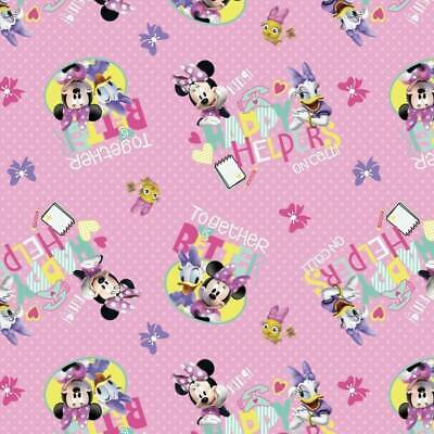 100% Cotton Patchwork Fabric Springs Creative Disney Minnie & Daisy Style