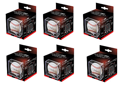 (6 Count Lot) Ultra Pro Square Baseball Holder Display Case w/ 4 Prong Cradle