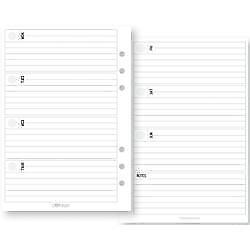 Weekly Horizontal - Planner Essentials Double-Sided A5 Inserts 72/Pkg