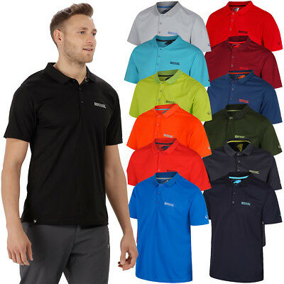 Regatta Mens 2018 Maverick IV Lightweight UPF 40+ Moisture Wicking Polo Shirt