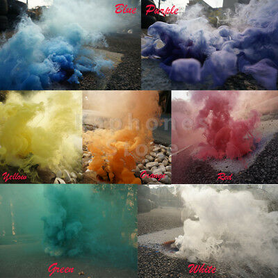 Smoke Cake Colorful Smoke Effect Show Round Photography Tool Aid Toy Divine Gift