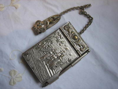 Edwardian arts & crafts chatelaine aide memoire medieval original paper &pencil