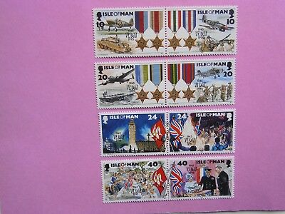 GB ISLE OF MAN: 1995 50th Anniv End of Second World War 8vals MNH Sg641/48