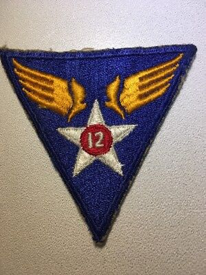 Original WWII USAAF U.S. ARMY 12th AIR FORCE CUT EDGE FULL COLOR PATCH No Glow