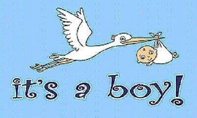 It's a Boy Flag Baby Banner Birth Announcement Pennant 3x5 Indoor Outdoor