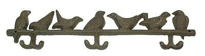 Birds coat, hat, towel rack birds on a branch wall hooks rust or Pick Your Color