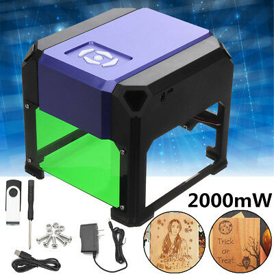 2000mW Mini USB Laser Engraver Printer Carver DIY Mark Engraving Cutting Machine