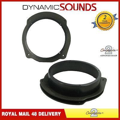CT25FT05 165mm Front or Rear Door Speaker Adaptors Pods For Lancia Delta 2008>