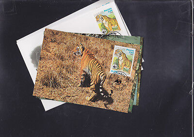 059371 WWF Laos Maximum Card´s + FDC First Day Cover´s