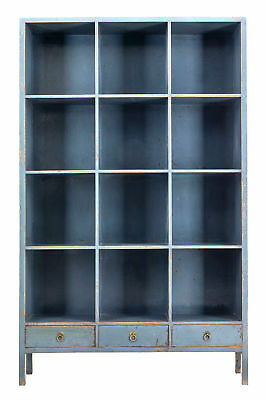 Large 20Th Century Chinese Export Lacquered Open Bookcase