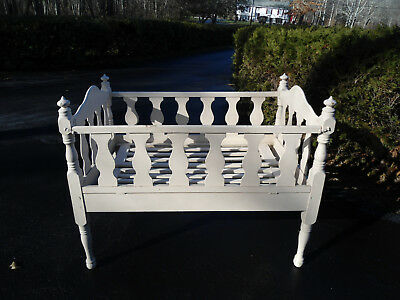 Vintage wooden Folding baby crib 1 Side Folds Down