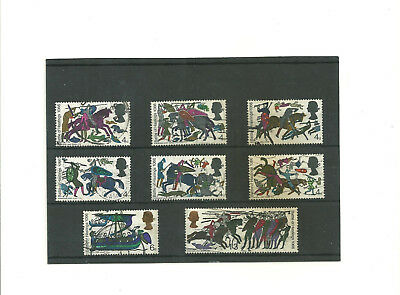 GB 1966 Battle of Hastings set of 8 used stamps