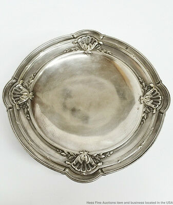 Antique Late Victorian French Charles Barrier Plateau Silver Bowl Hallmark