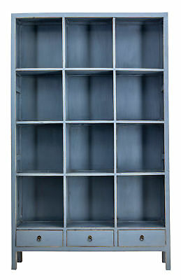 Large Late 20Th Century Chinese Export Open Bookcase