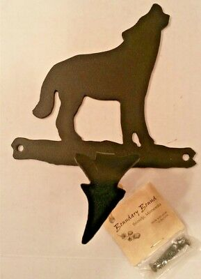 USA Made MN Steel Iron BLACK COYOTE Nature Hook Wall Door Hanger Coat Hat Towel
