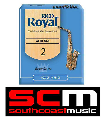 New Rico Royal Alto Saxophone 2.0 Reeds Box Of 10 @scm! Sax Reed