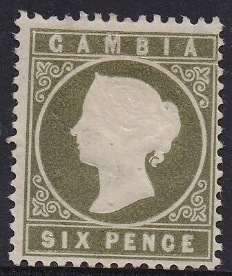 Gambia 1886 Qv Cameo 6D