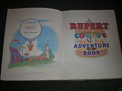 The New Rupert Colour Adventure Book 1953 50 Pages Approx