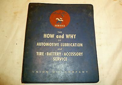 Vintage Union 76 Minute Man Dealer Manual - How and Why of Lubrication