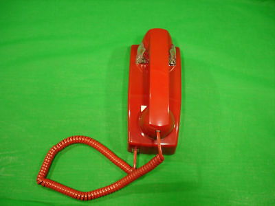 2554 Style No Dial Red Wall Phone Hotel Lobby Telephone
