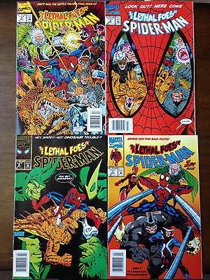 The Lethal Foes Of Spider-Man Comic Set #1-4 Marvel Comics Newsstand Editions