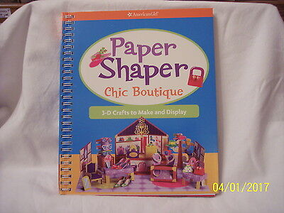 American Girl Paper Shaper Chic Boutique-3-D Crafts To Make & Display-Spiral-New
