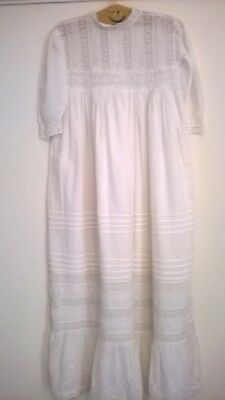 Lovely   Vintage  Christening  Gown  1980S, Not Antique