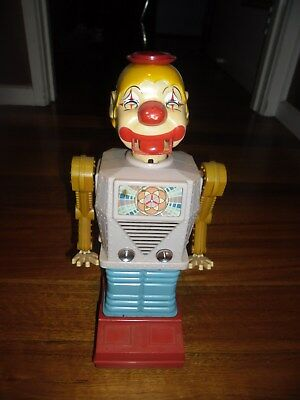 "Rare Japanese 14"" Robot Clown Batteries 1965 Japan Waco Alps Vintage Toy"