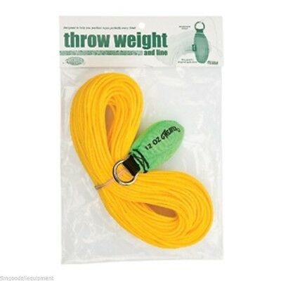 Weaver Throw Weight & Line Kit,12oz x 150' Rope, Neon Green Throw Weight
