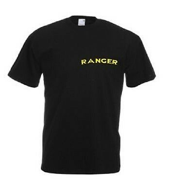 US RANGER LOGO ARMY DRILL INSTRUCTOR TSHIRT shirt black schwarz S