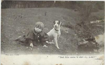 Animal Postcard -Court - Terrier and young boy -1904