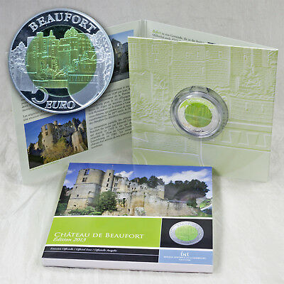 5 Euro Luxemburg Luxembourg Burg Chateau De Beaufort Silber Silver Niob 2013
