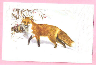 Red Fox Out Foxed by Linda Picken Embossed Christmas Cards Box of 16