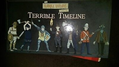 Horrible Histories Terrible Timeline Folder and Cards Used