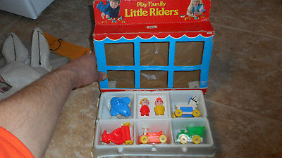Vintage 70s Fisher Price Play Family Little Riders Little People Play Set #656