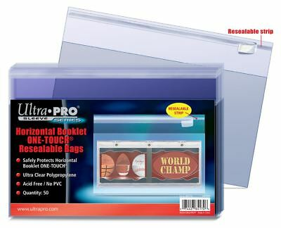 (50 / 1 Pack) Ultra Pro Horizontal Booklet One-Touch Resealable Bags Sleeves
