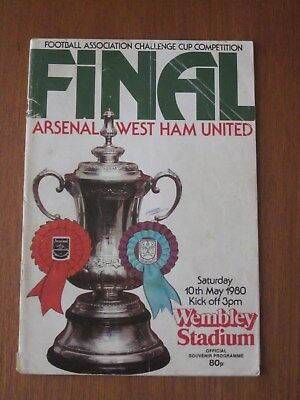 Arsenal v West Ham football programme - FA Cup final 1980