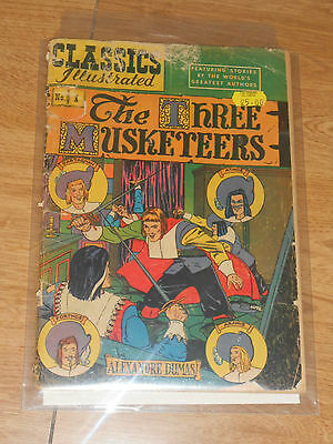 Classics Illustrated #1 (HRN 64) Gilberton Three Musketeers 10c