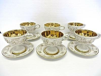 Set of 6 Vintage Capodimonte Cups & Saucers No Reserve