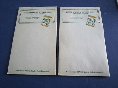 2 Vintage QUAKER STATE OIL REFINING CORP STATIONERY NOTEPADS NOS *FREE SHIPPING+