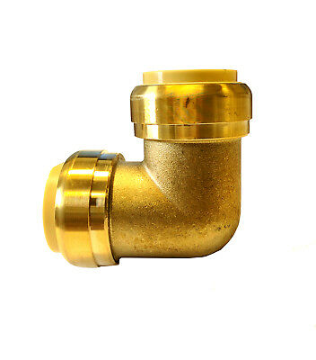 Libra Supply 2 inch, 2'' Push-Fit 90 Degree Brass Elbow, push to connect