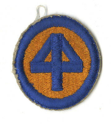 Wwii Original 44Th Infantry Division White Back Patch Europe France Germany
