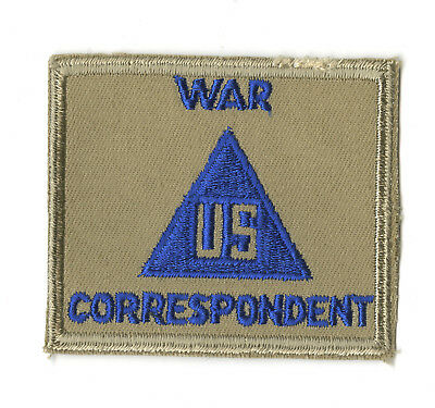 Wwii Original Civilian In The Field War Correspondent Patch On Twill White Back