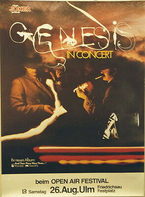Genesis Concert Tour Poster 1978 And Then There Were Three