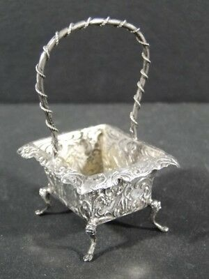 Antique 800 Silver French Scenic Handled BASKET