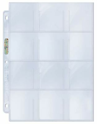 100) Ultra Pro 12-Pocket 2 1/4 x 2 1/2 Trading Card / Sticker Album Binder Pages